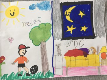 """Kącik artystyczny """"dzień i noc"""" ☁️🌛☀️"""